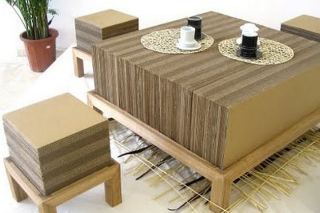 Muebles de cart n decoracion de interiores con carton - Carton para muebles ...