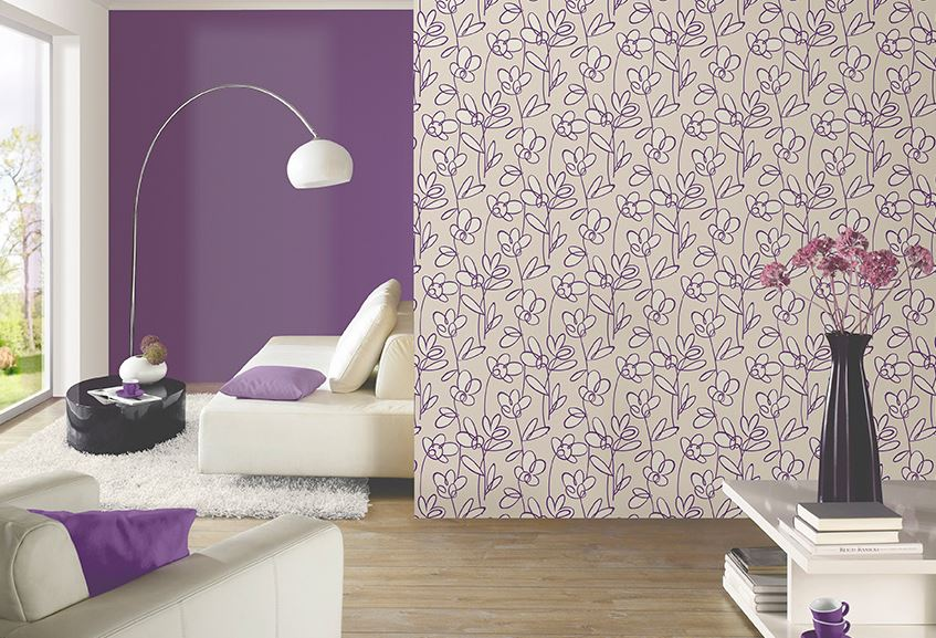 Papel pintado leroy merl n decoraci n de interiores decorarok for Papel vinilo pared