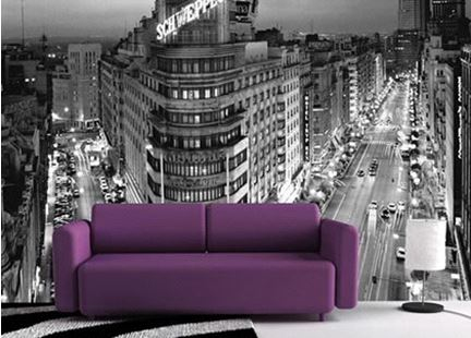 Como decorar una pared con vinilos decorativos - Vinilos decorativos para muebles de salon ...
