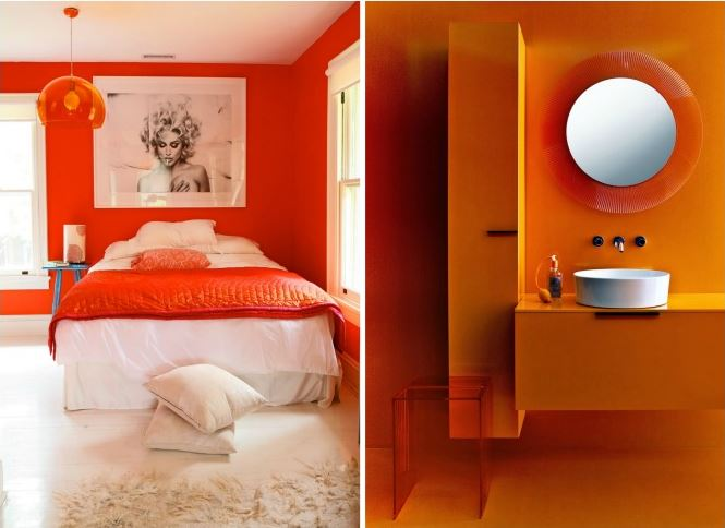 decorar colores naranja