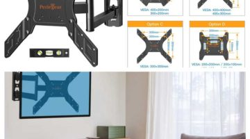Soporte TV de Pared Inclinable, Giratorio y Articulado